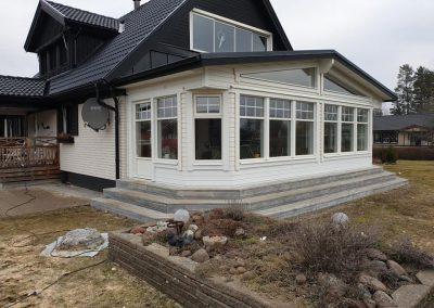 Renovering och fönsterbyte på altan